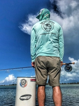 fly fishing for tarpon using the stakeout method