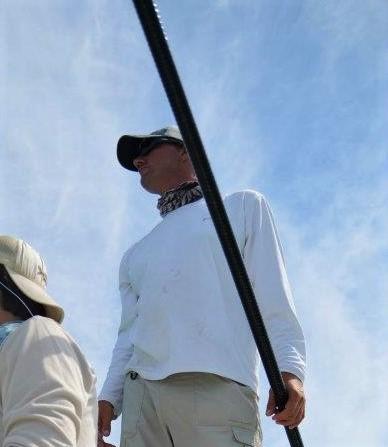 Florida Keys flats fishing guide scans for tarpon