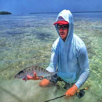 Florida Keys fly fishing bonefish in April